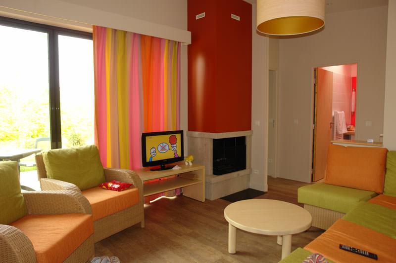 Wohnzimmer Ferienhaus Premium Center Parcs