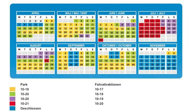 Öffnungszeiten 2014 im Legoland Dänemark