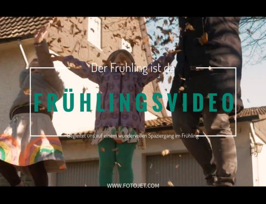 Frühlings video familie spaziergang