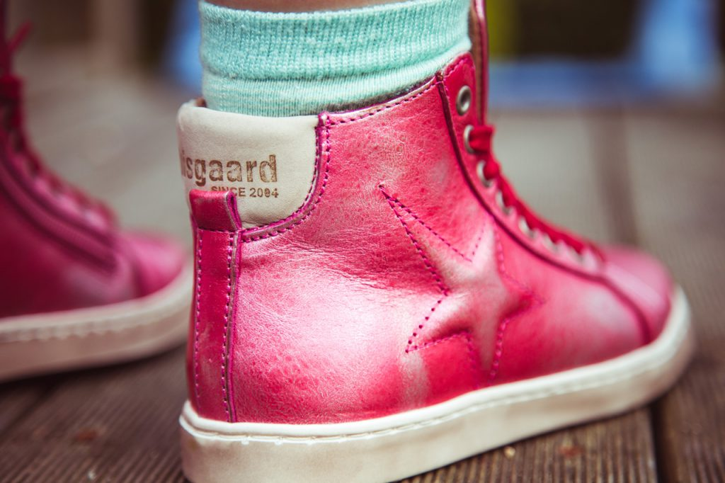 bisgaard sneaker metallic pink