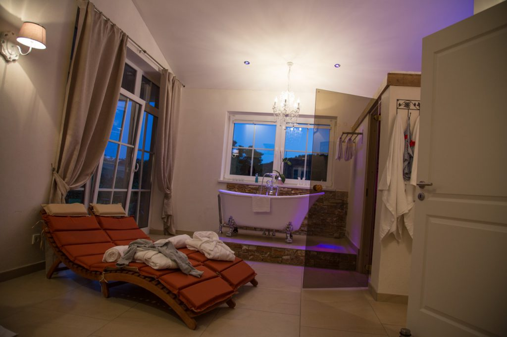 relax cottage mon petit chalet das badezimmer