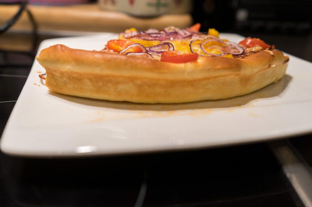 pizza hut pizza selbst machen dicker Rand