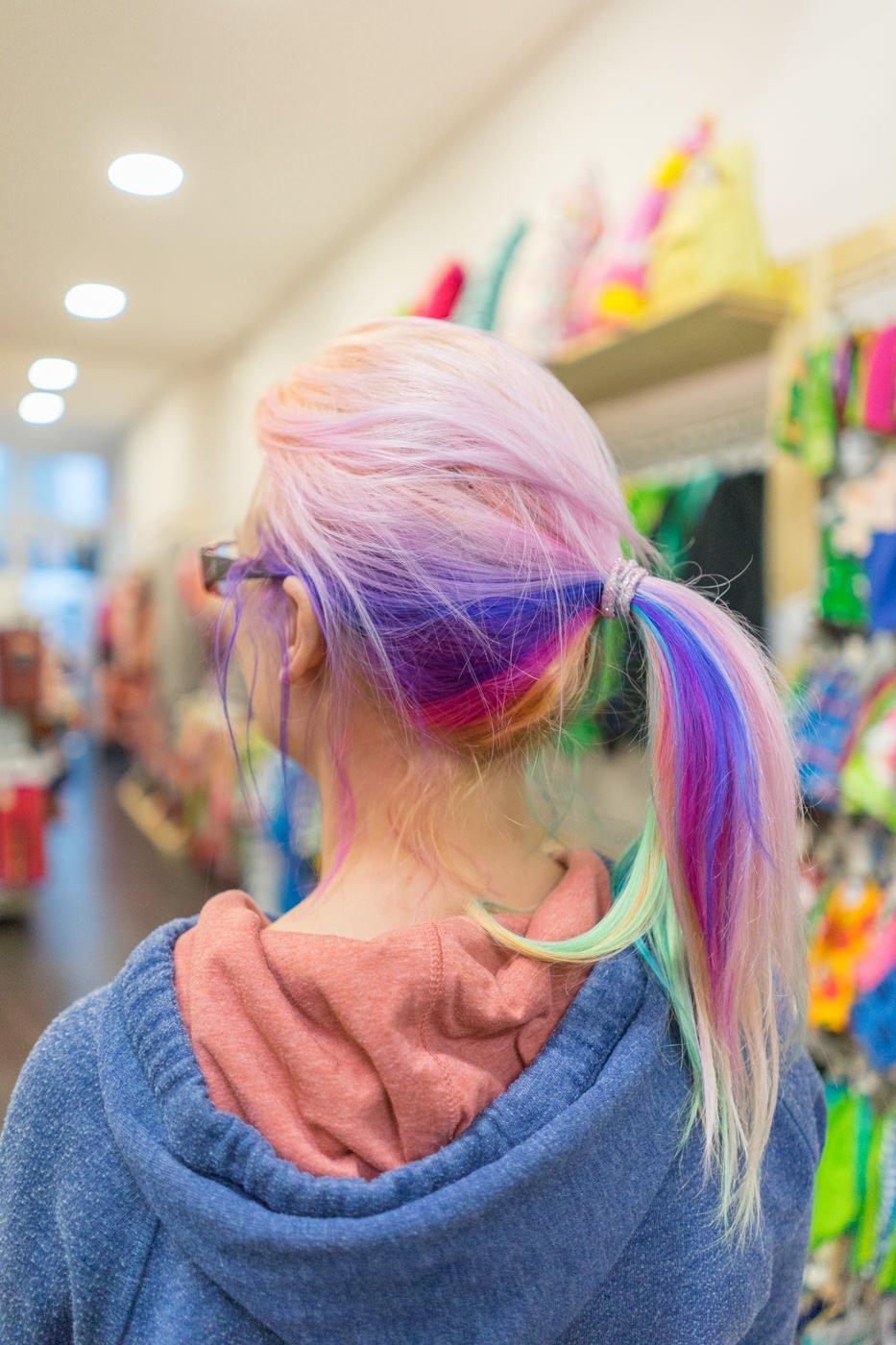 regenbogen haare