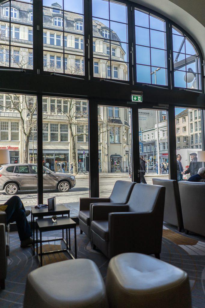 reichshof hamburg blick aus dem Hotel