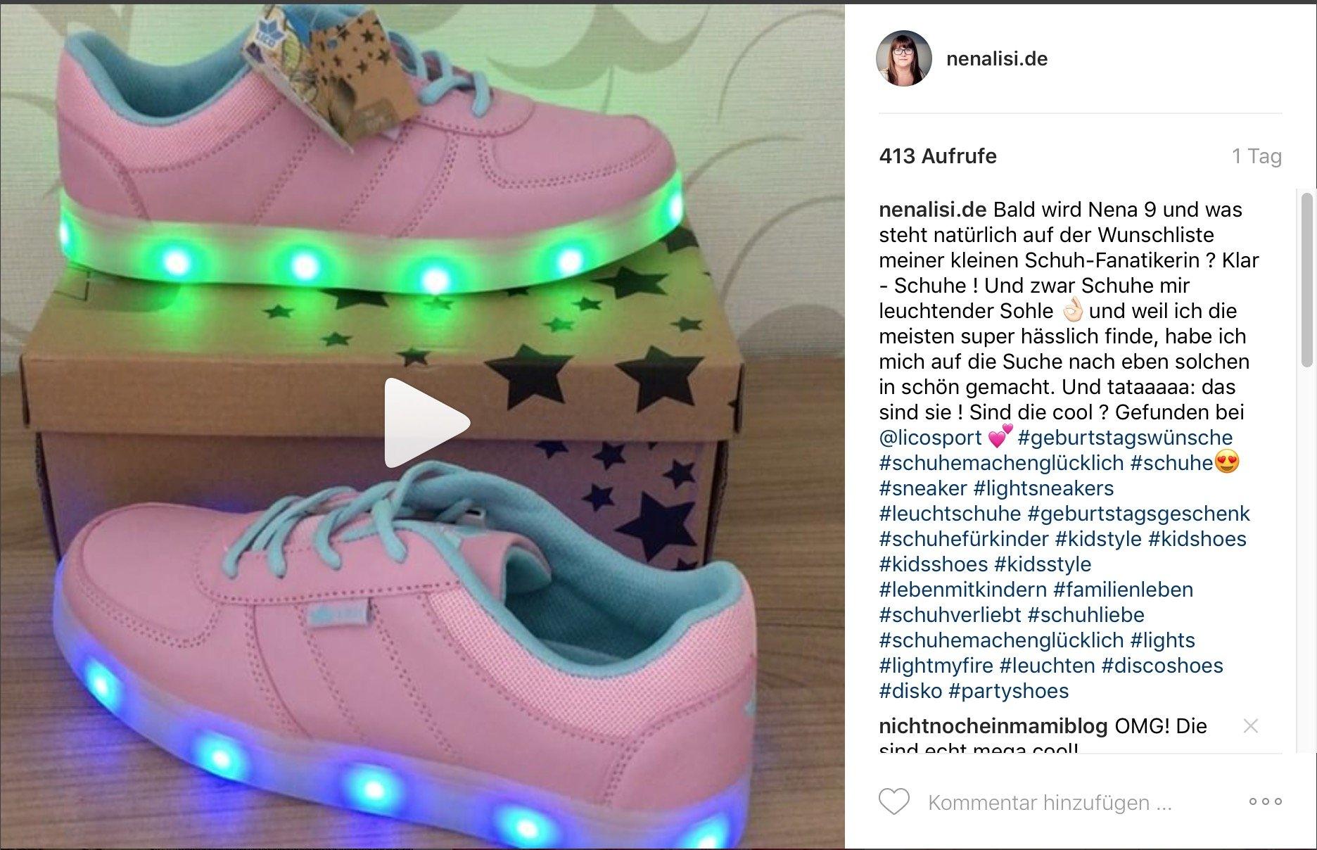 Schuhe mit leuchtender sohle schön