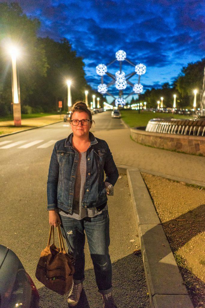 Brüssel Atomium Feuerwerk