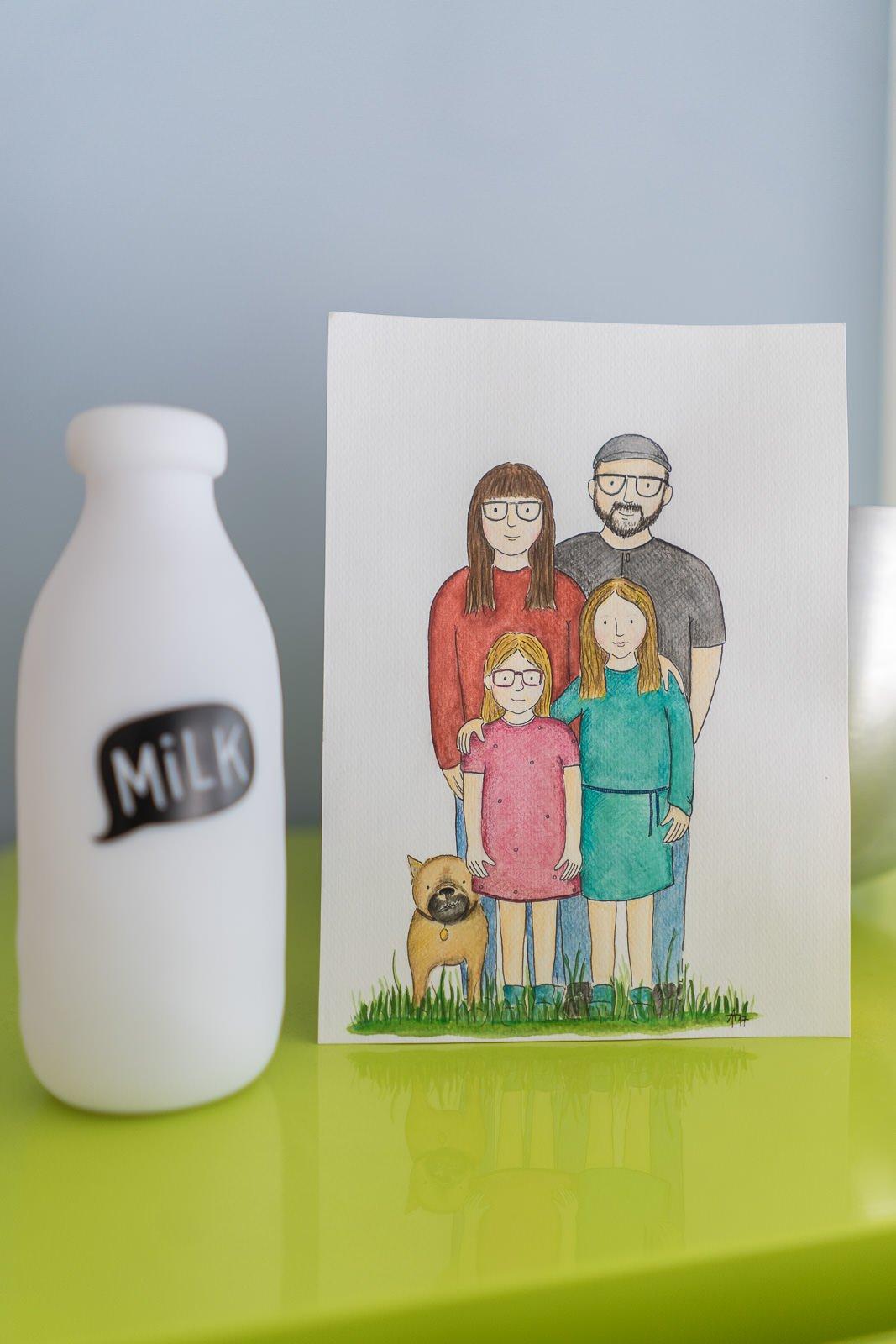 familienbild gemalt