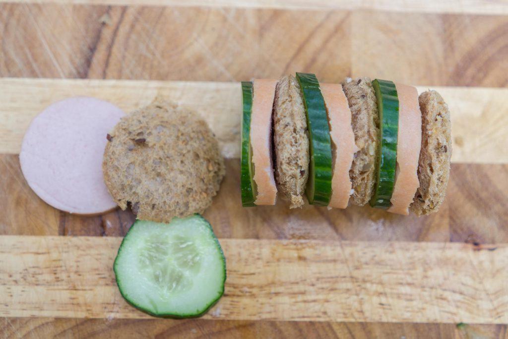 gurken-sandwach-schlange Zubereitung