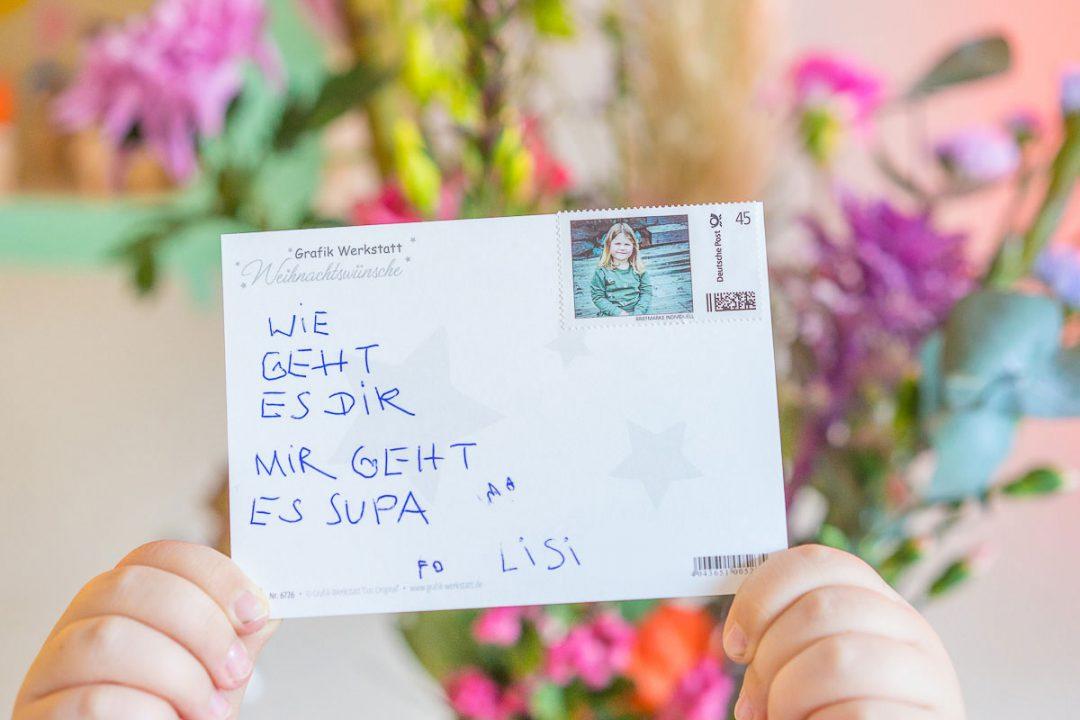 Postkarte personalisierte Briefmarke