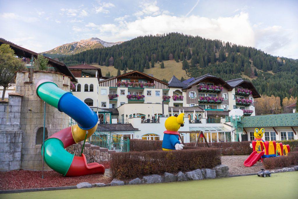 alpenrose lermoos Spielplätze