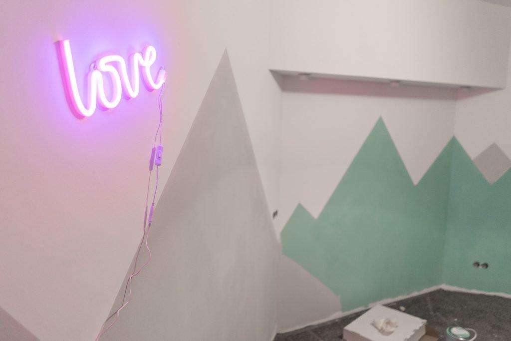 Kinderzimmer Renovierung Lampe