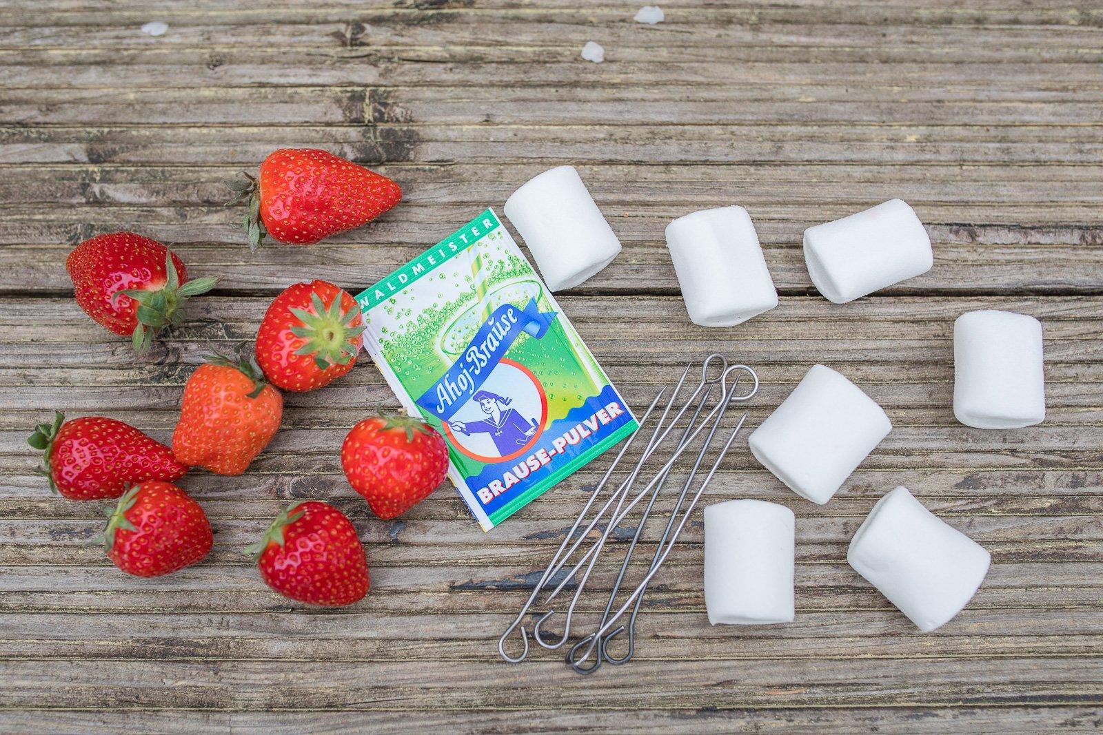 zutaten gegrillte marshmallow Erdbeeren