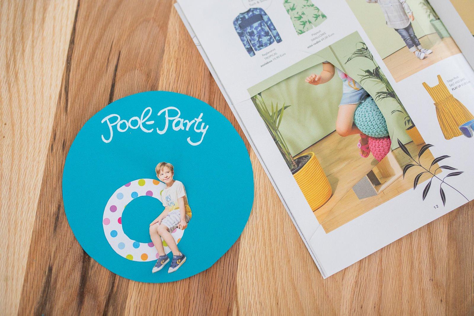 poolparty Kindergeburtstag Einladungen