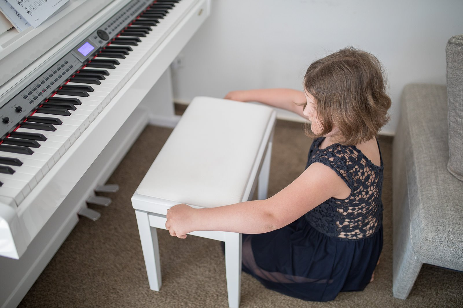 Piano bank höhenverstellbar