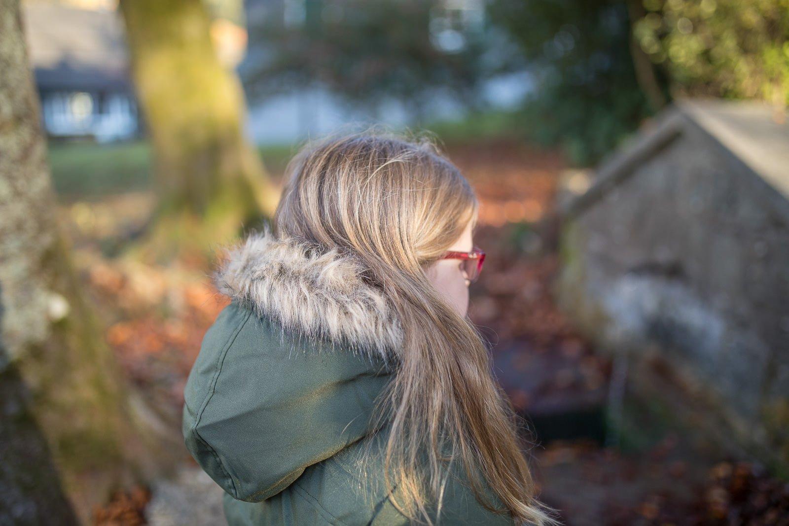 Winterjacke mit Fellkragen
