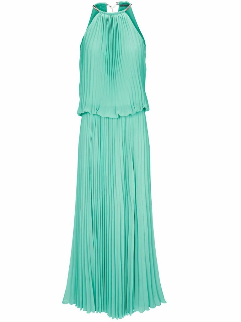 langes Kleid mint