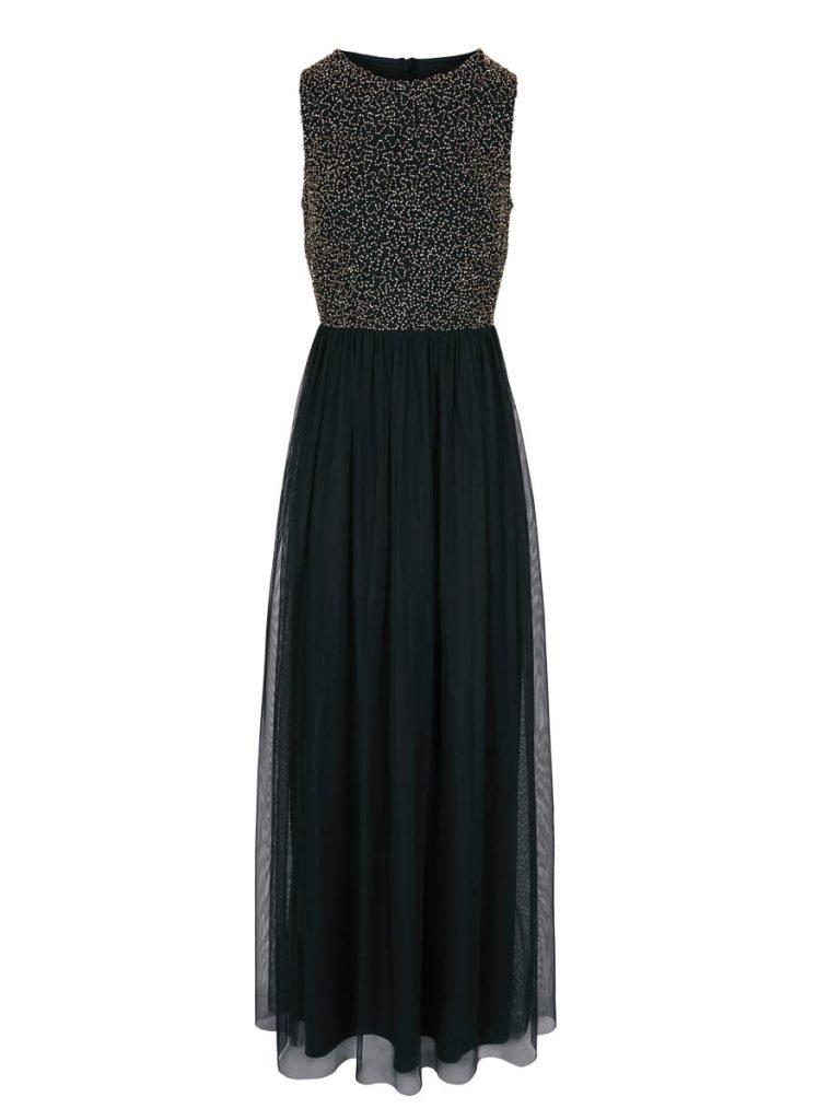 langes schwarzes Kleid baur